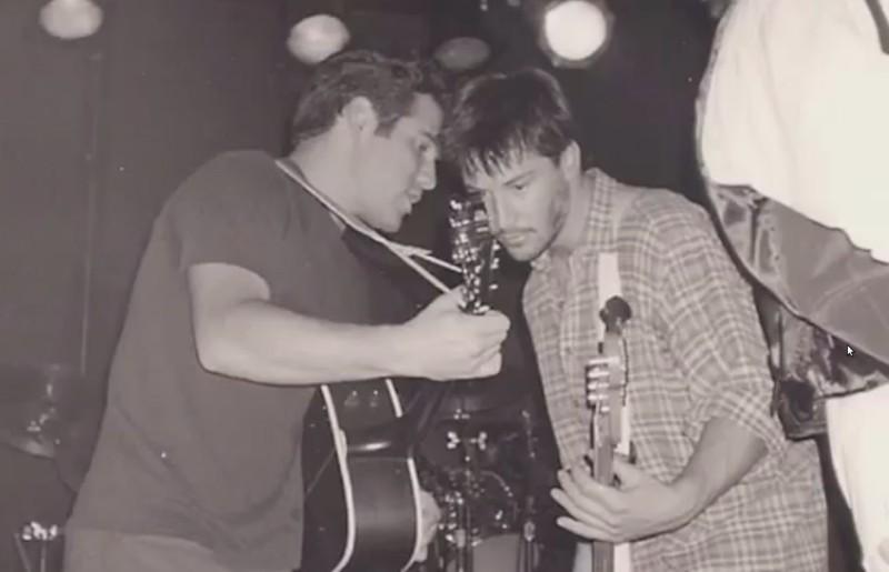 Киану Ривз в составе группы Dogstar, 1995 год