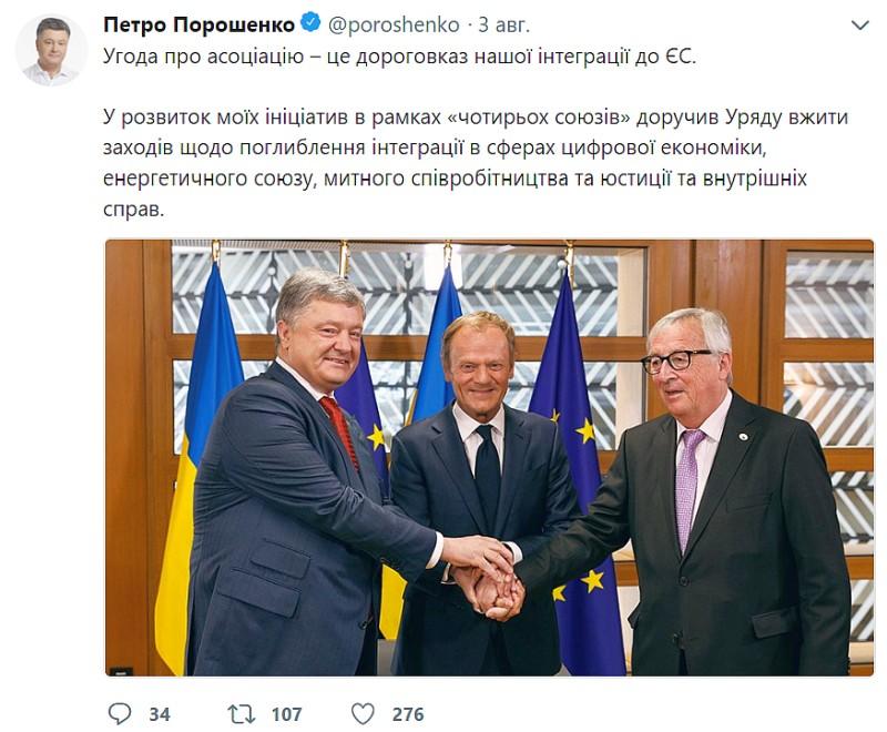 Твиттер Петра Порошенко
