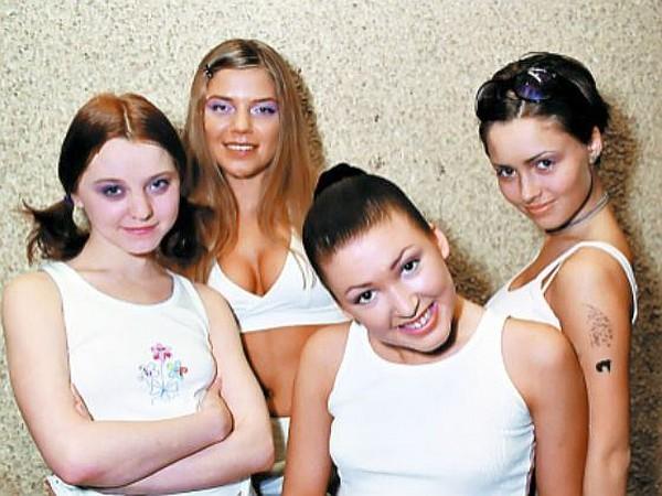Валентина Рубцова в составе группы «Девочки»