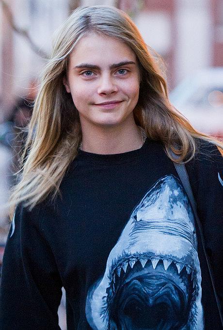 Кара Делевинь в 14 лет