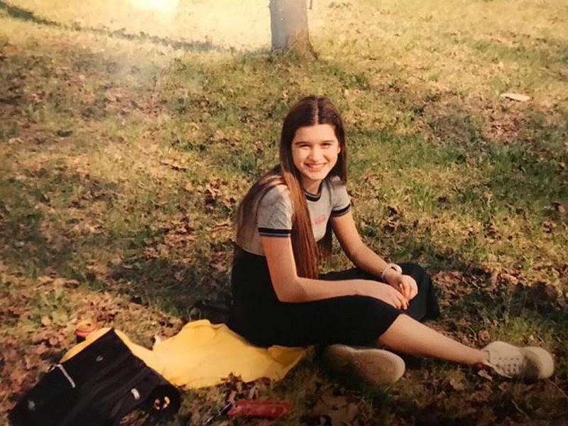 Ксения Бородина в юности