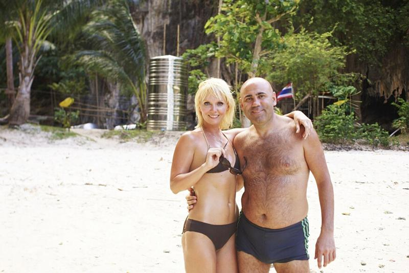 Валерия и Иосиф Пригожин на пляже